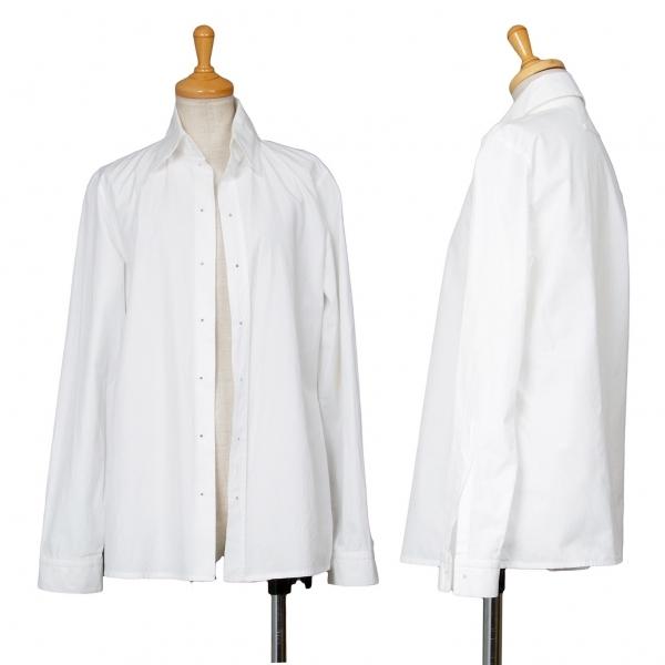 ジャンポールゴルチエファムJean Paul GAULTIER FEMME ハイクオリティ ピンホールボタンレスシャツ 白M位 レディース 大放出セール 中古