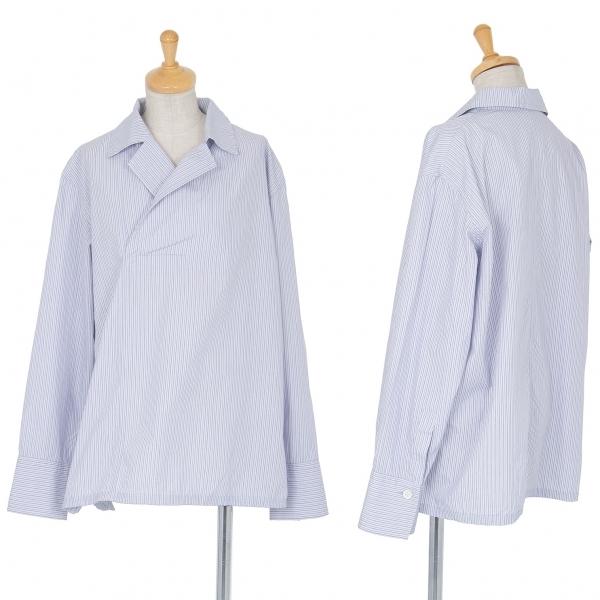 ワイズY's コットンストライププルオーバーシャツ ブルー白3【中古】 【レディース】