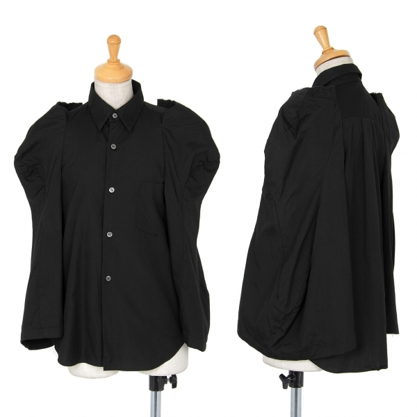 コムデギャルソンCOMME des GARCONS 変形ワイドスリーブデザインシャツ 黒XS【中古】 【レディース】