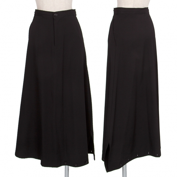 ワイズY's ウールギャバ裾ボタンペンギンパンツスカート 黒2【中古】 【レディース】