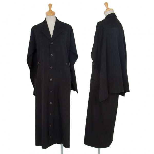 ワイズY's ウールギャバマントデザインコート 黒M位【中古】 【レディース】