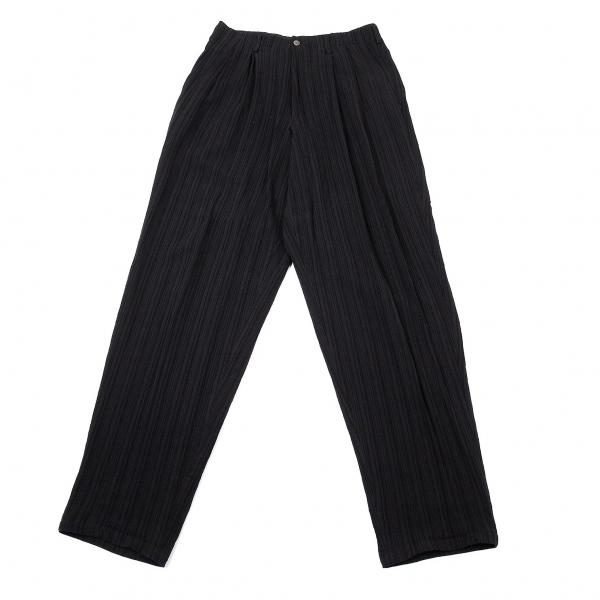 ワイズフォーメンY's for men ストライプ織りツータックパンツ 黒S【中古】 【メンズ】