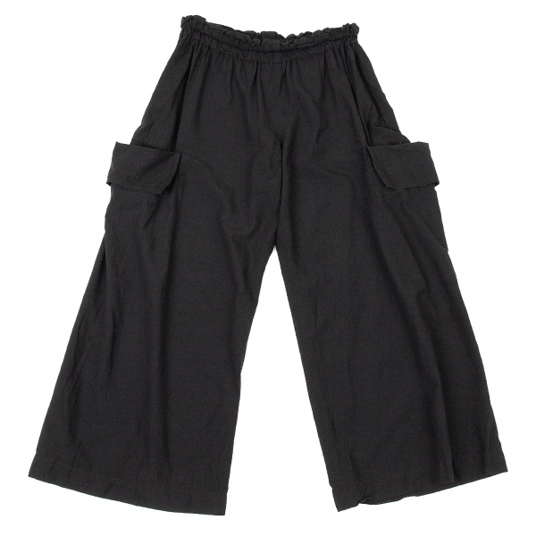 ワイズY's フラップポケットワイドイージーパンツ 黒2【中古】 【レディース】