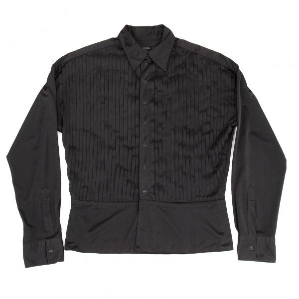 ジャンポールゴルチエ オムJean Paul GAULTIER HOMME フロントピンタックストレッチシャツ 黒48【中古】 【メンズ】