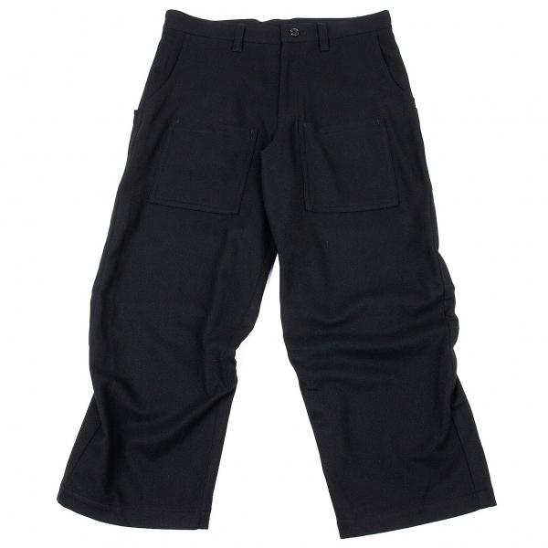 ワイズY's フラノウールポケットデザインパンツ 黒2【中古】 【レディース】