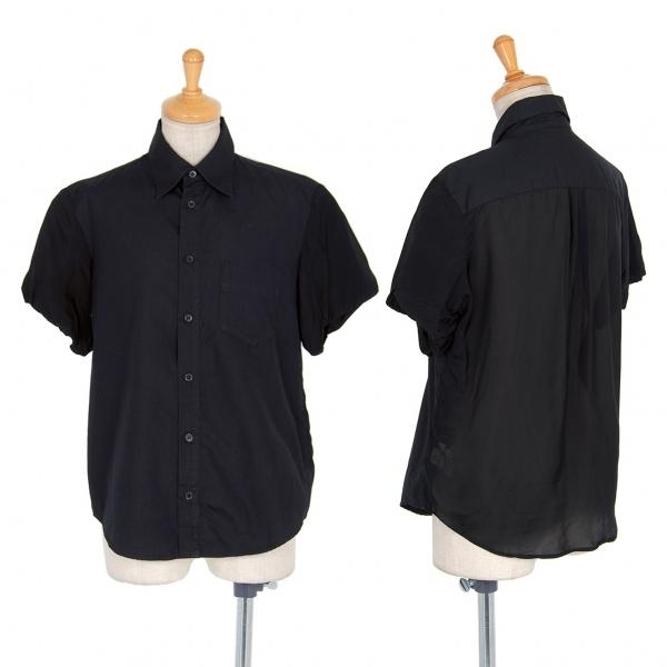 ワイズY's バックシースルー切替半袖シャツ 黒2【中古】 【レディース】