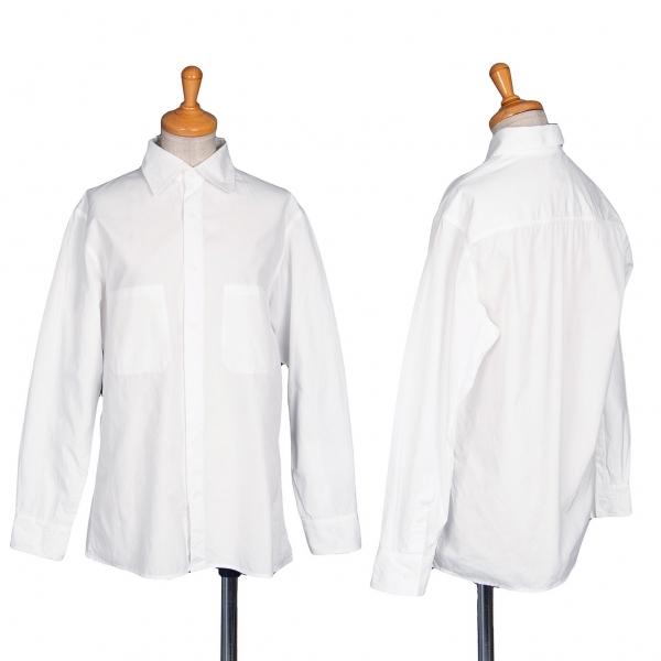 ビーヨウジヤマモト B Yohji Yamamoto インサイドポケットベーシックシャツ 白M位【中古】 【レディース】