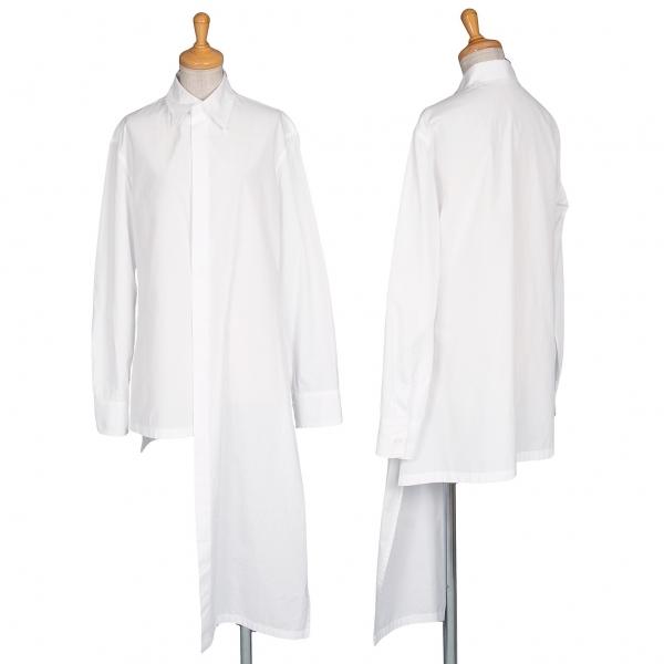ヨウジヤマモト ファムYohji Yamamoto FEMME コットンフロントアシンメトリードローイングプリントシャツ 白1【中古】 【レディース】
