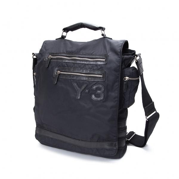 ワイスリーY-3 マルチポケットフラップショルダーバッグ 濃紺【中古】 【レディース】