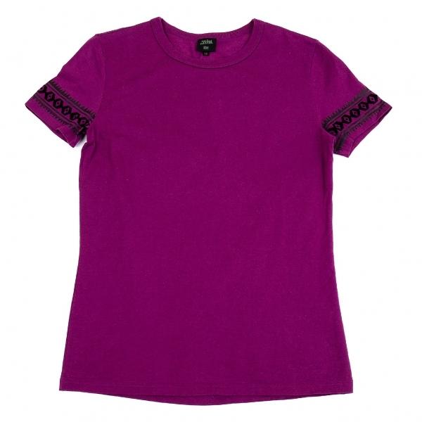 ジャンポールゴルチエ オムJean Paul GAULTIER HOMME 袖ネイティブラインプリントTシャツ 紫48【中古】 【メンズ】