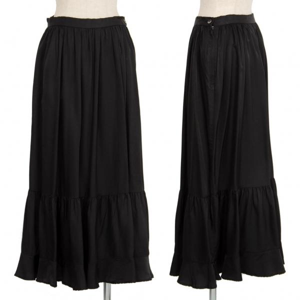 トリココムデギャルソンtricot COMME des GARCONS キュプラギャザー切替スカート 黒M【中古】 【レディース】