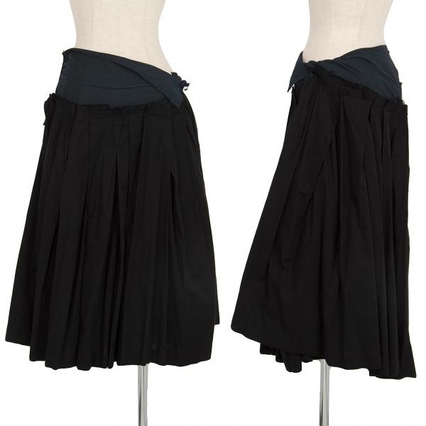 トリココムデギャルソンtricot COMME des GARCONS コットンプリーツ切替デザインスカート 黒M【中古】 【レディース】