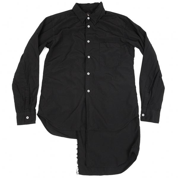 コムデギャルソン オムプリュスCOMME des GARCONS HOMME PLUS 製品染めアシンメトリーレイヤードシャツ 黒XS【中古】 【メンズ】