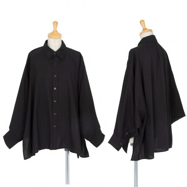 ワイズY's コットンラグランドルマンスリーブシャツ 黒2【中古】 【レディース】