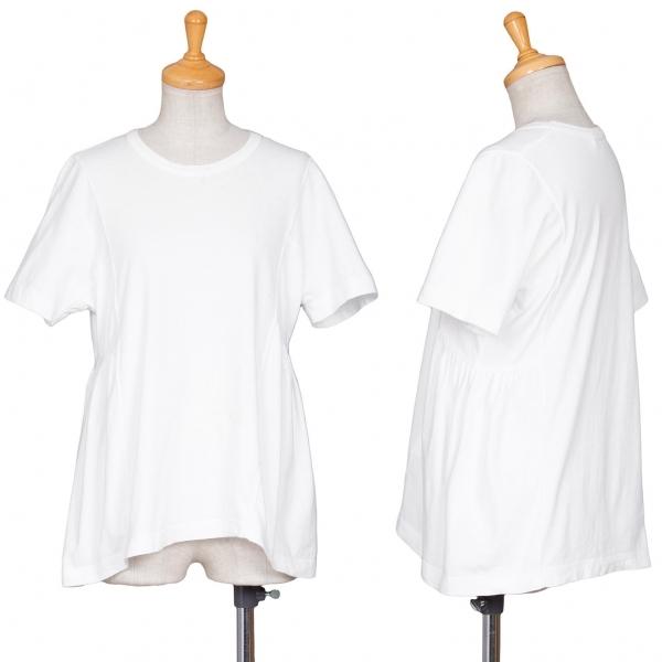 コムコム コムデギャルソンCOMME des GARCONS 切り替えTシャツ 白S【中古】 【レディース】
