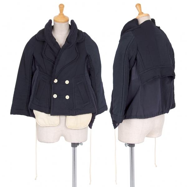 コムデギャルソンCOMME des GARCONS 中綿ドッキングデザインジャケット 紺S【中古】 【レディース】