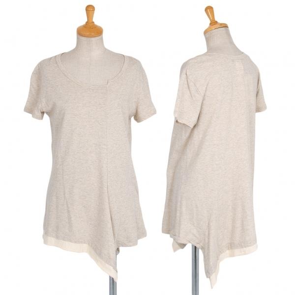 ワイズY's 裾変形切替デザインTシャツ ベージュ2【中古】 【レディース】