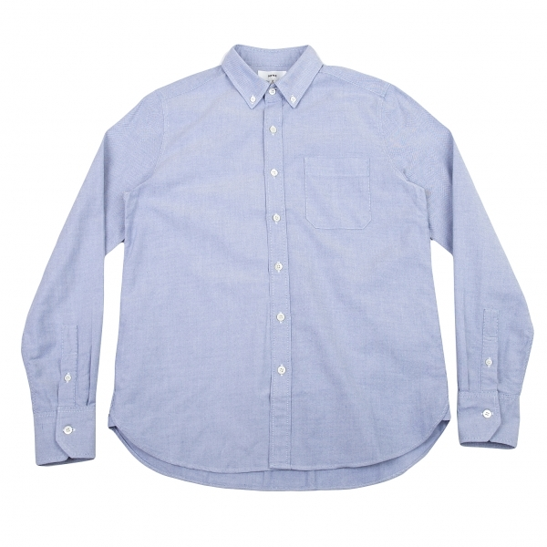 ハイクHYKE コットンオックスフォードボタンダウンシャツ サックス2【中古】 【レディース】