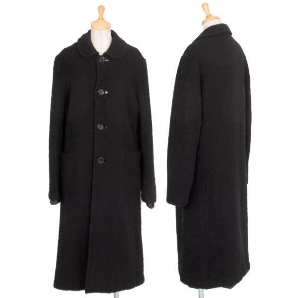 トリココムデギャルソンtricot COMME des GARCONS 縮絨ウールコート 黒M【中古】 【レディース】