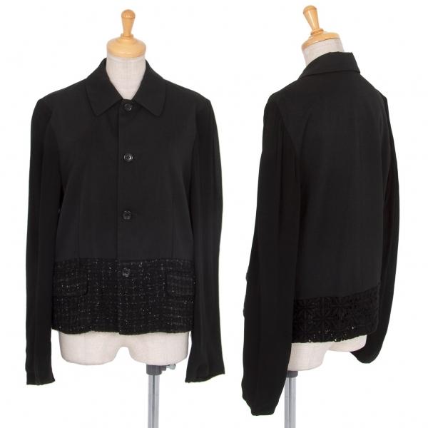 トリココムデギャルソンtricot COMME des GARCONS 袖裾切替デザインジャケット 黒M【中古】 【レディース】