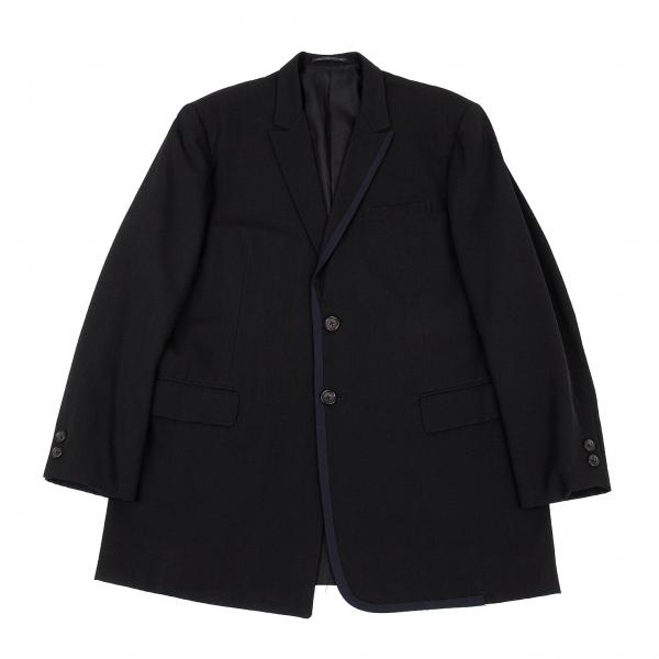 ヨウジヤマモト プールオムYohji Yamamoto POUR HOMME ウールギャバパイピングデザインジャケット 黒S【中古】 【メンズ】