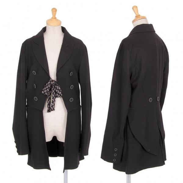 ケンゾージーンズKENZO JEANS 裾脱着デザインウールジャケット 黒40【中古】 【レディース】