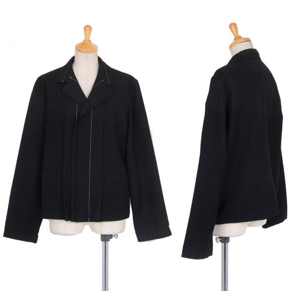 ワイズY's フライフロントステッチウールジャケット 黒2【中古】 【レディース】