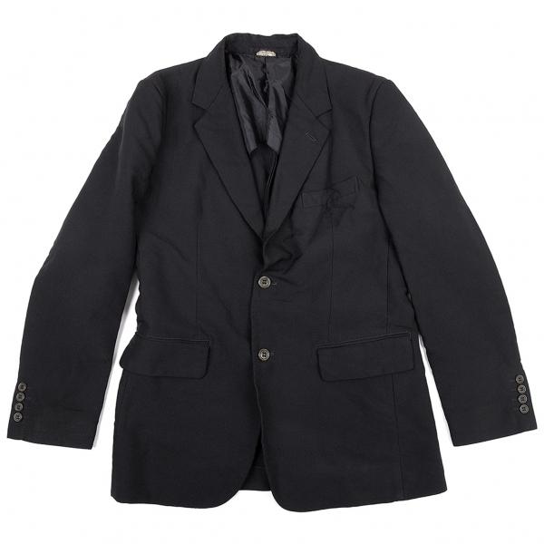 コムデギャルソン オム ドゥCOMME des GARCONS HOMME DEUX 製品染めポリ縮2Bジャケット 濃紺M【中古】 【メンズ】
