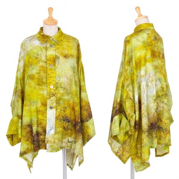 ワイズY's グラフィックプリントドルマンビッグシルエットシャツ 黄緑他2【中古】 【レディース】