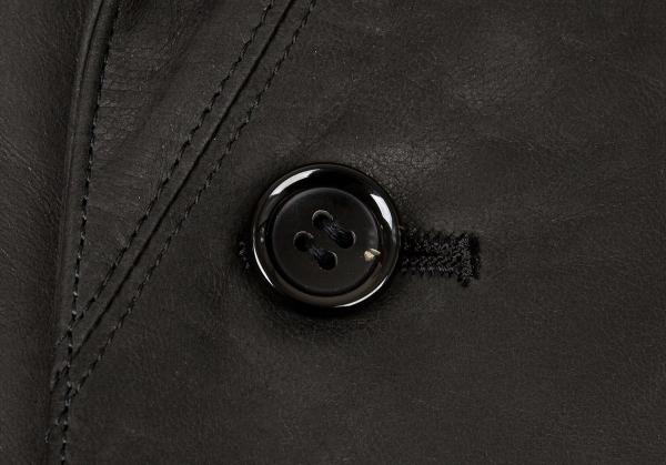 パパスPapas シープスキンカバーオールジャケット 黒50Lメンズw0Nm8n
