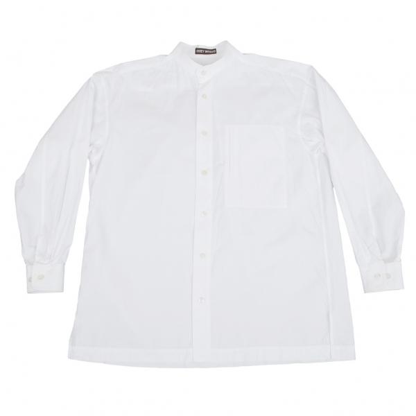 通販 イッセイミヤケ メンISSEY MIYAKE MEN 胸横ポケットスタンドカラーカッターシャツ 白L位【】 【メンズ】, 中津川市 a4659060