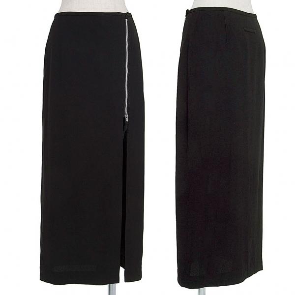 ジャンポールゴルチエ クラシックJean Paul GAULTIER CLASSIQUE ジョーゼットジップデザインスカート 黒42【中古】 【レディース】