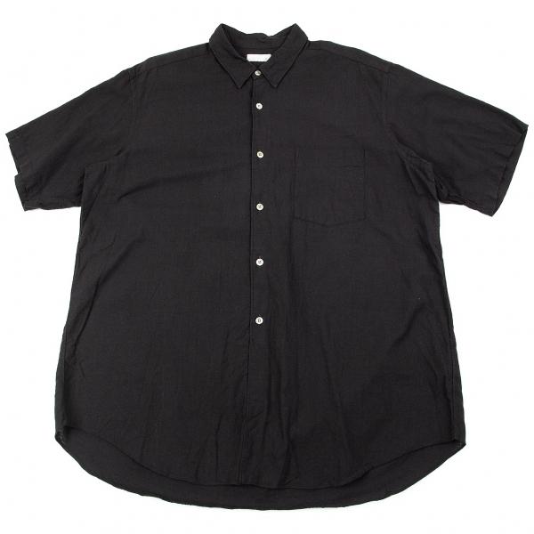 コムデギャルソン オムCOMME des GARCONS HOMME コットン半袖シャツ 黒M位【中古】 【メンズ】