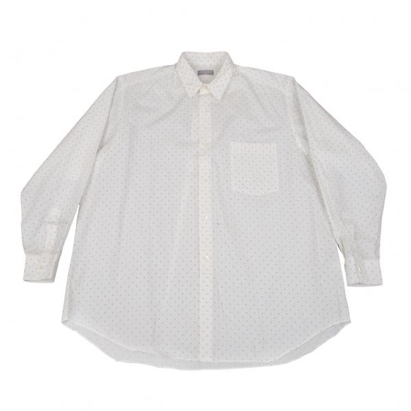 コムデギャルソン オムCOMME des GARCONS HOMME コットンピンドットプリントシャツ 白黒M位【中古】 【メンズ】