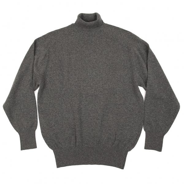 コムデギャルソン オムCOMME des GARCONS HOMME ウールナイロンタートルネックニットセーター 杢グレーM位【中古】 【メンズ】
