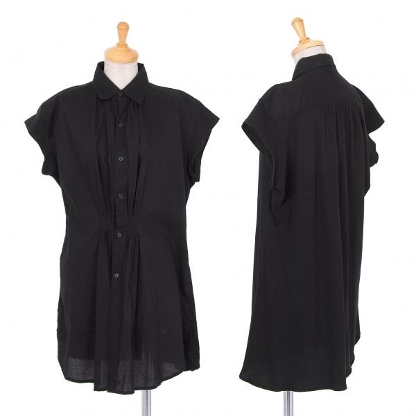 ワイズY's 天竺切り替えタックフレンチスリーブシャツ 黒1【中古】 【レディース】