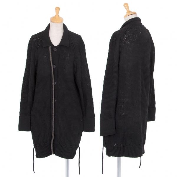 ワイズY's ドローコードニットジャケット 黒2【中古】 【レディース】