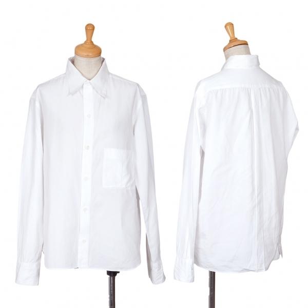 ヨウジヤマモト ファムYohji Yamamoto FEMME コットンマチ付きポケットシャツ 白2【中古】 【レディース】