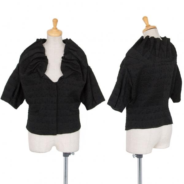 エンポリオ アルマーニEMPORIO ARMANI 半袖フリルデザインジャケット 中古 レディース おすすめ 黒42 超激安特価