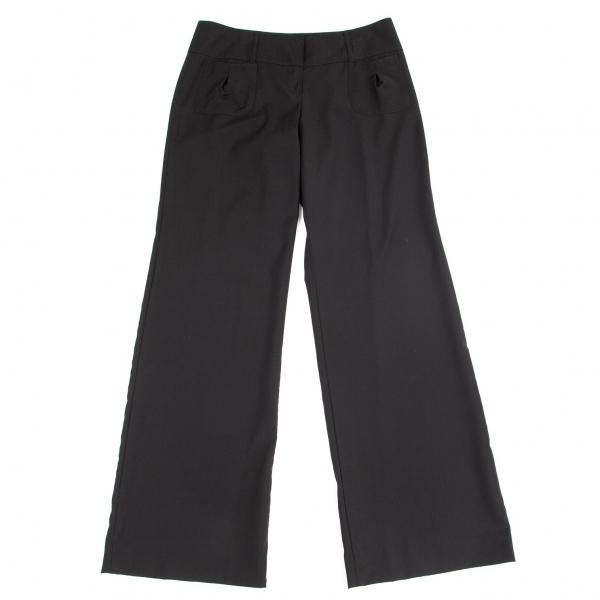 エンポリオ アルマーニEMPORIO ARMANI ポケットデザインウールパンツ 黒40【中古】 【レディース】