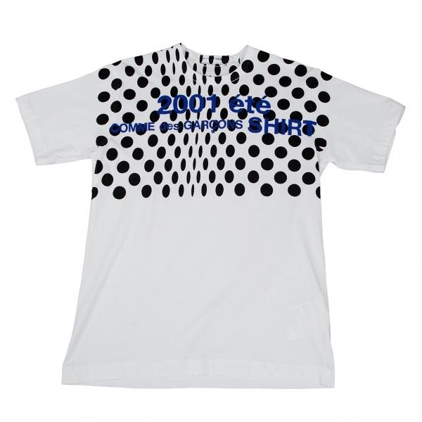 コムデギャルソン シャツCOMME des GARCONS SHIRT 変形ドットプリントTシャツ 白L【中古】 【メンズ】