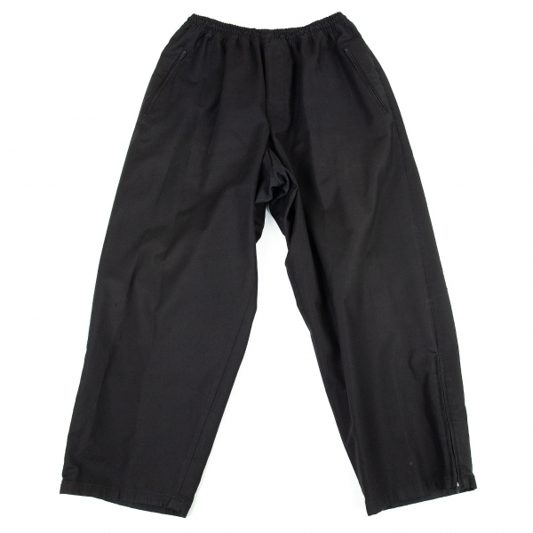 ヨウジヤマモト プールオムYohji Yamamoto POUR HOMME コットンストレッチ裾ジップパンツ 黒3【中古】 【メンズ】