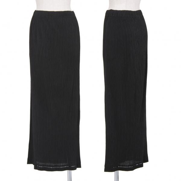 イッセイミヤケISSEY MIYAKE 裾レーザーカットプリーツスカート 黒M【中古】 【レディース】