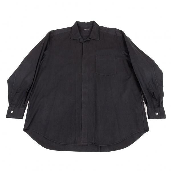 コムデギャルソン オムプリュスCOMME des GARCONS HOMME PLUS フロントフライコットンシャツ 黒M位【中古】 【メンズ】