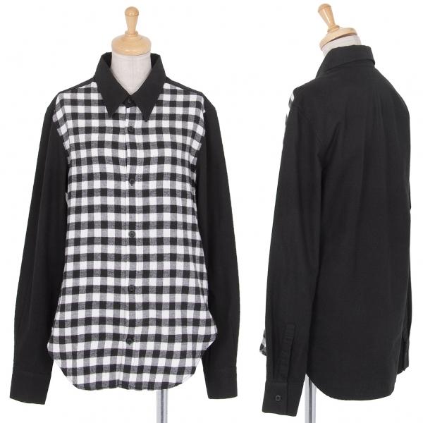 リミフゥLIMI feu フロントチェック切替ネルシャツ 黒白S【中古】 【レディース】