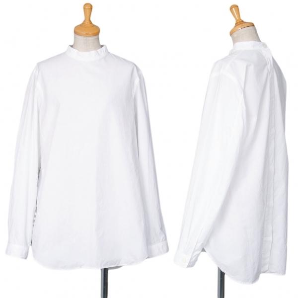 ワイズY's コットンブロードバックボタンバンドカラーシャツ 白M位【中古】 【レディース】