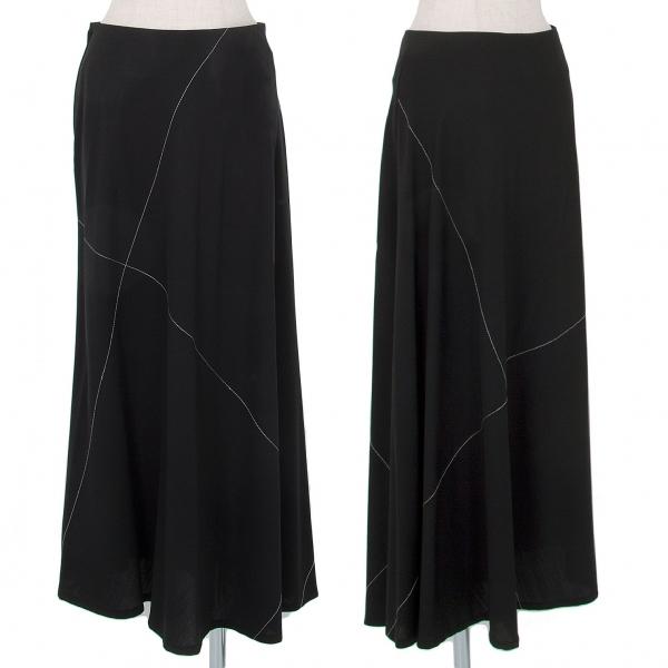 ワイズY's ウールギャババイアスステッチスカート 黒M位【中古】 【レディース】