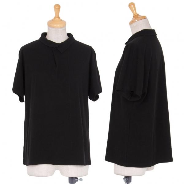 ヨーガンレールJURGEN LEHL コットンタックポロシャツ 黒M【中古】 【レディース】