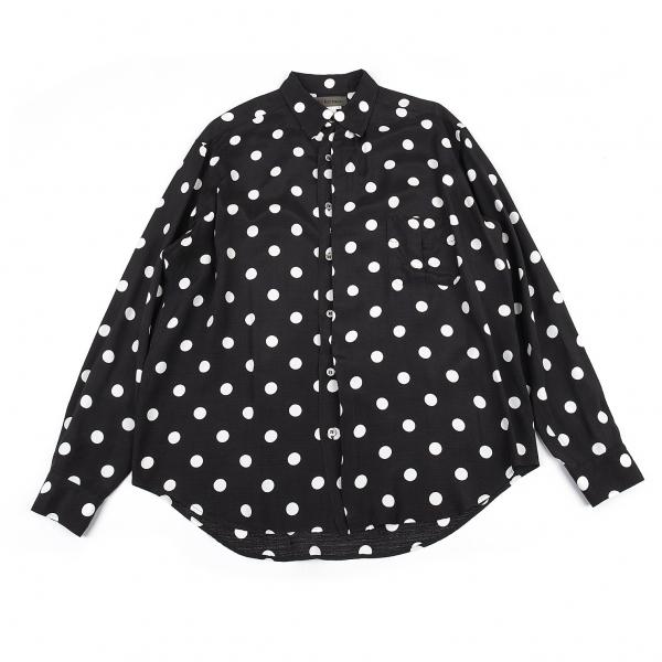 ワイズフォーメンY's for men レーヨンドットプリントシャツ 黒白4【中古】 【メンズ】