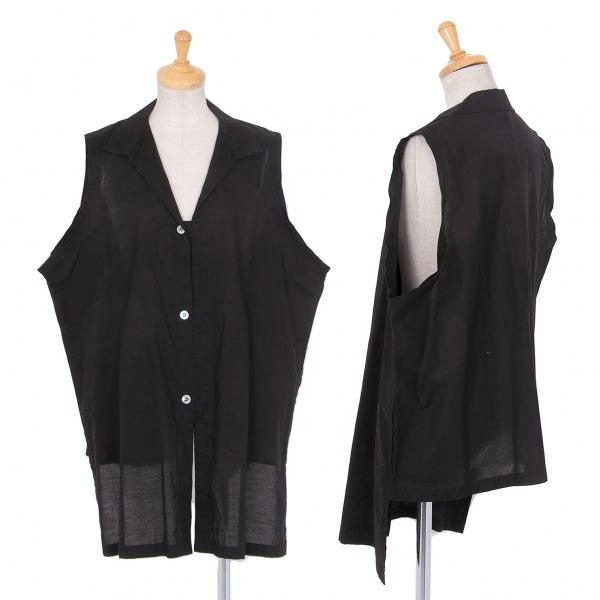 ワイズY's コットンフロントロングノースリーブシャツ 黒3【中古】 【レディース】
